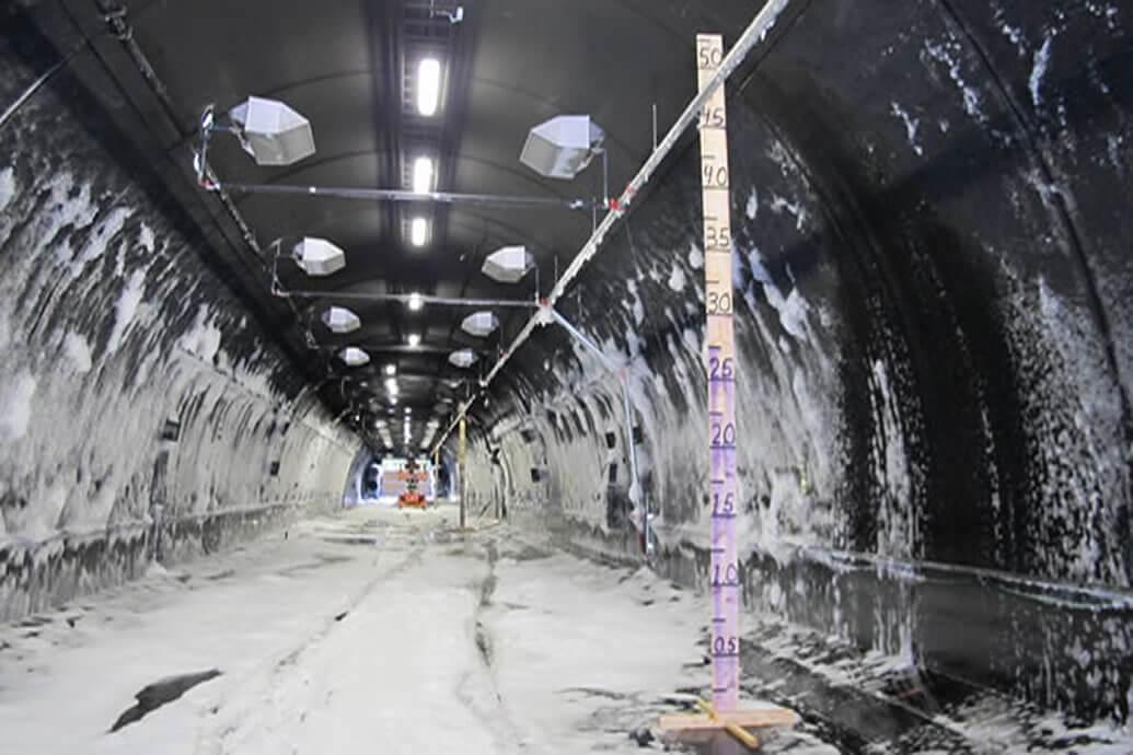 Foam firefighting system in rail tunnels