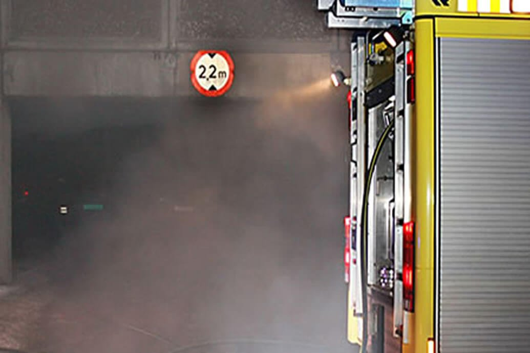 Fire risks related to vehicles in underground car parks