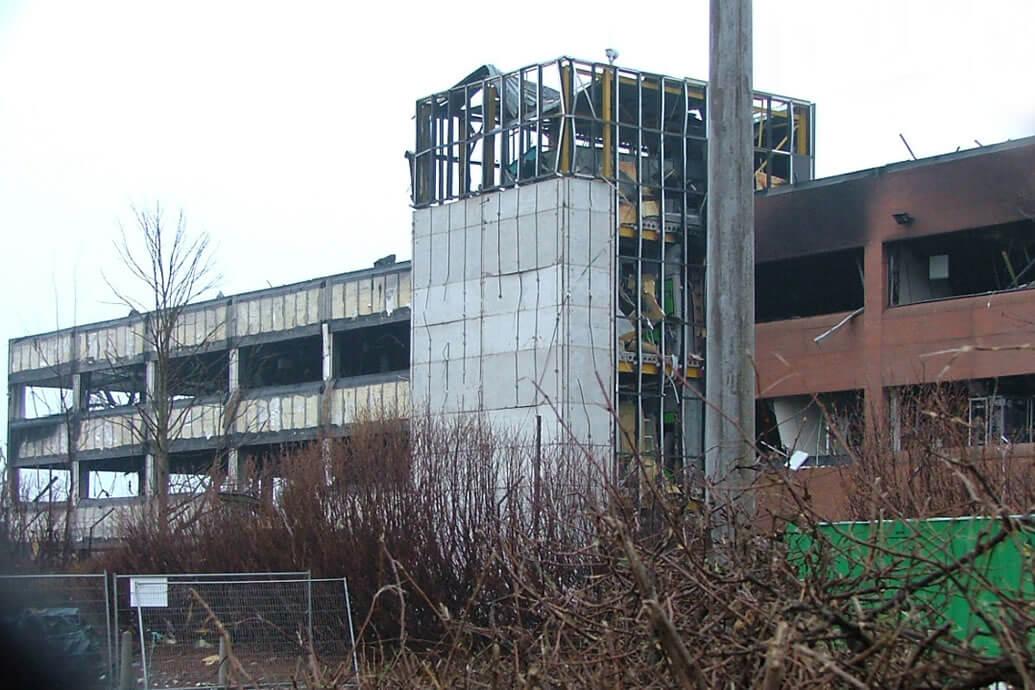 fire damaged concrete
