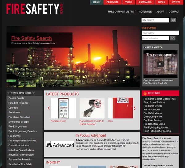 Original Fire Safety Search website