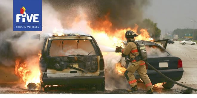 FIVE Fires in Vehicles 2018