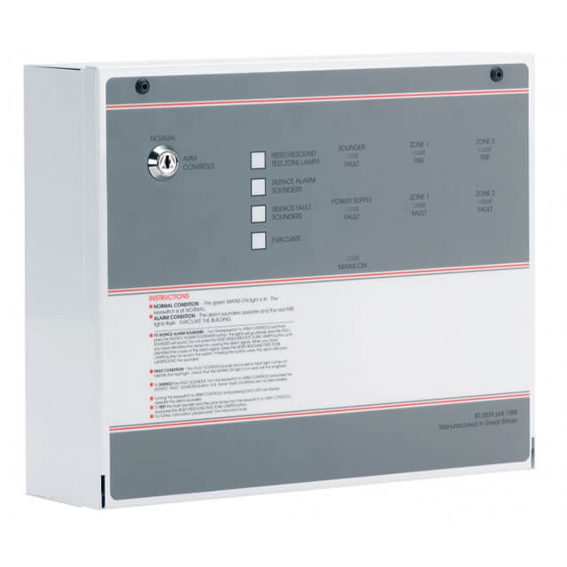 FP 2 Zone Conventional Fire Alarm Panel