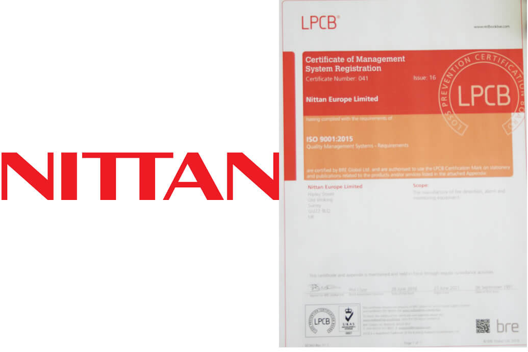 Nittan awarded ISO 90012015 for high quality performance